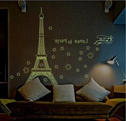Amaonm Glow in the Dark Wall Decal Loves in Paris Eiffel Tow