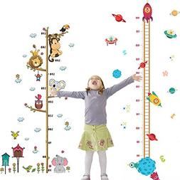 2PCS Height Growth Chart Sticker Removable Hanging Rulers An