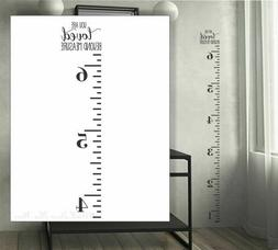 Vintage style Wooden school ruler height chart wall sticker Growth Chart