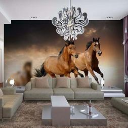 Horse Racing Wall Mural Custom Any Size 3D Wallpaper For Liv