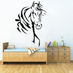 Horse's Head Wall Sticker Family Decal for Living Room Bedro