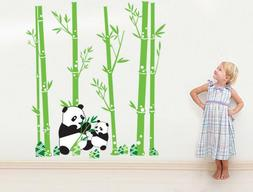 Huge Panda Bamboo Pattern Removable Wall Stickers Decal Kids