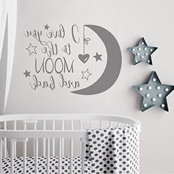 BATTOO I Love You to The Moon and Back- Moon and Stars Wall