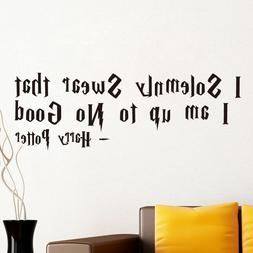 I Solemnly Swear Quote Wall Sticker Harry Potter Kids Room W