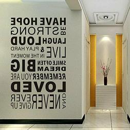 Delma Inspirational Wall Decals Quotes,Word Wall Sticker Quo