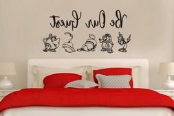 Inspired by Beauty and the Beast Wall Decal Sticker Be Our G