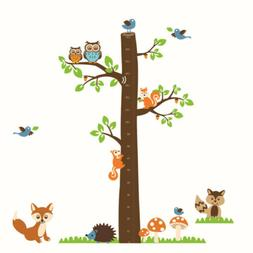 Kids Height Measurement Chart Measure Animal Tree Wall Stick