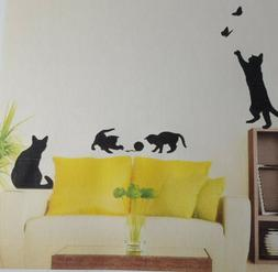 Kitten & Cats Removable Vinyl Wall Decor Stickers Cat Lovers