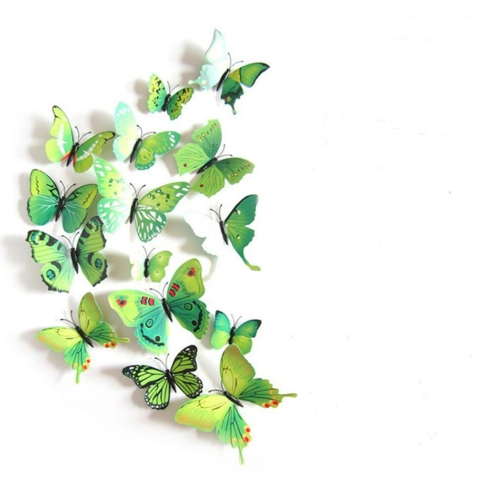 12 pieces 3d butterfly art decal home