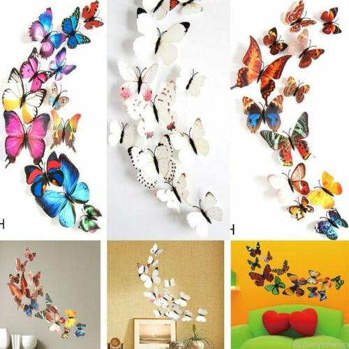 24Pcs 3D Butterfly Stickers Room