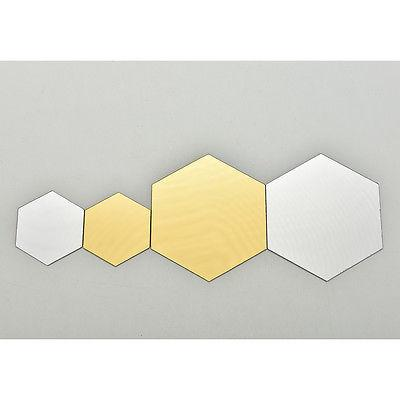 12Pcs 3D Hexagon Vinyl Removable Wall Decal Home