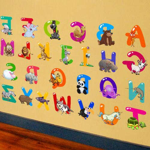 26 Animals Alphabet Wall Decal Removable Sticker Educational