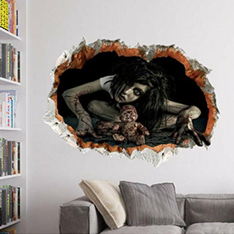 3D Horror Ghost Scary Sticker Decal Decoration Decor