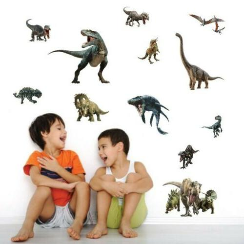 Dinosaur Jurassic Nursery Wall Sticker Dinos Art Decals Kids