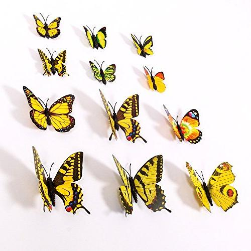 Amaonm 72 Pcs Packages 3d Wall Removable Home Art Decor Wall & for Babys Bedroom Background Living