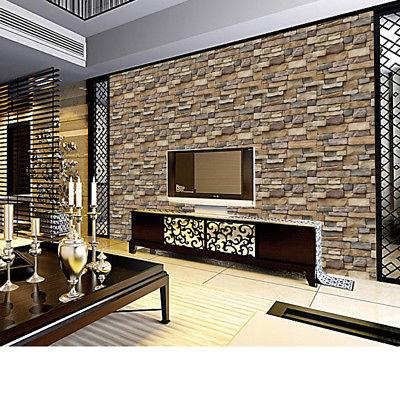 3D Wall Paper Stone Rustic Wall Decor HY