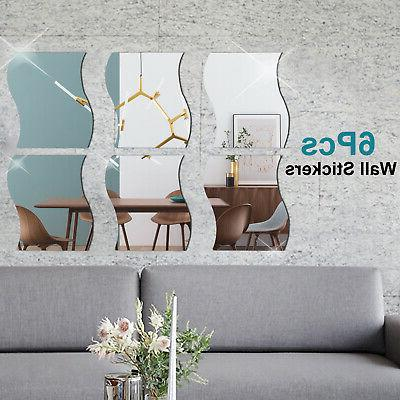 6PCS Sticker Shape Self-adhesive Home US