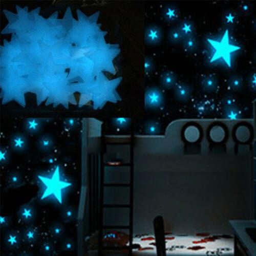 80pcs Wall Glow In The Dark Stars Stickers Baby Kids Nursery