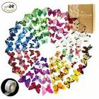 COCESA 96pcs 3D Butterfly Removable Wall Stickers+1 Sheet of