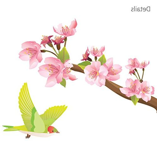 Decowall DW-1303 Blossoms and Decals Wall and Stick Removable Stickers Kids Bedroom