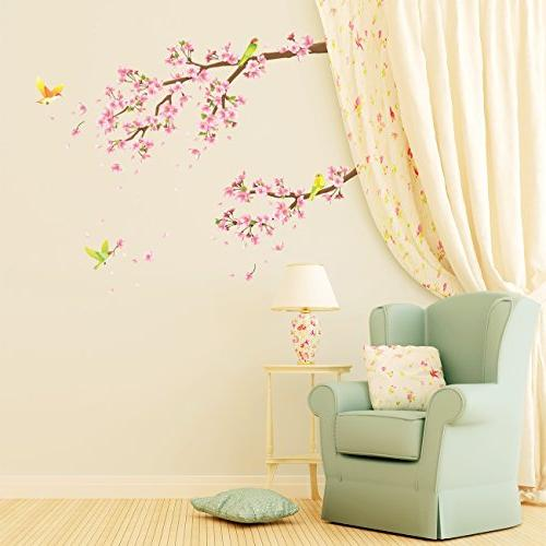 Decowall DW-1303 Blossoms and Kids Decals and Stickers for Kids Bedroom Living