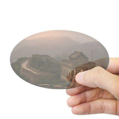 CafePress - Aerial View Of The Great Wall Of Ch - Sticker