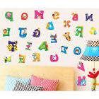 Alphabet & Animals Vinyl Mural Wall Stickers Baby Kids Room