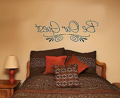 Be Our Guest Quote Wall Decal Vinyl Saying for Guest Bedroom