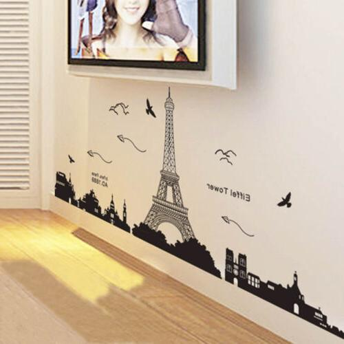 Bedroom Fashion Paris Tower Art Decal Sticker Mural
