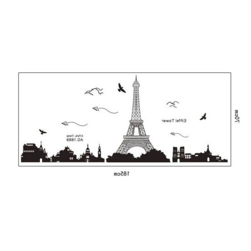Bedroom Fashion Decor Removable Paris Decal Wall Sticker Mural