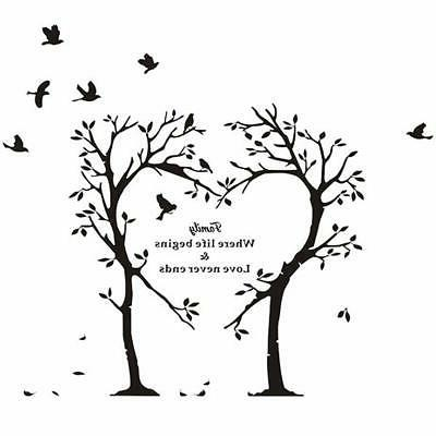 Boodecal Nature Wall Series Heart Tree Quote Decal Mural Sti