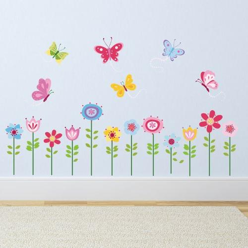 Bright Garden Peel & Stick Wall Art Sticker