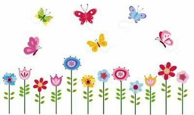 bright butterfly garden decorative peel