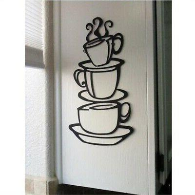coffee cup double sided visual removable wall