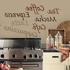 COFFEE WALL DECAL Vinyl Sticker KITCHEN WORDS Wall Décor Co