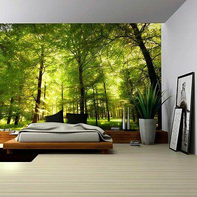 crowded forest mural wall mural removable sticker