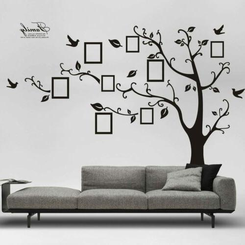 DIY Family Wall Art Stickers Removable Black Trees Sticker