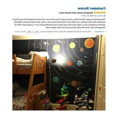 Decowall DW-1501S The Solar System Kids Wall Stickers