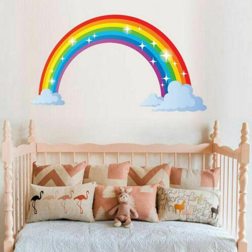 Multicoloured Rainbow Wall Sticker Kids Bedroom Nursery Deca