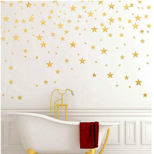 Gold Decal Stickers Removable Decor Sticker for Kids