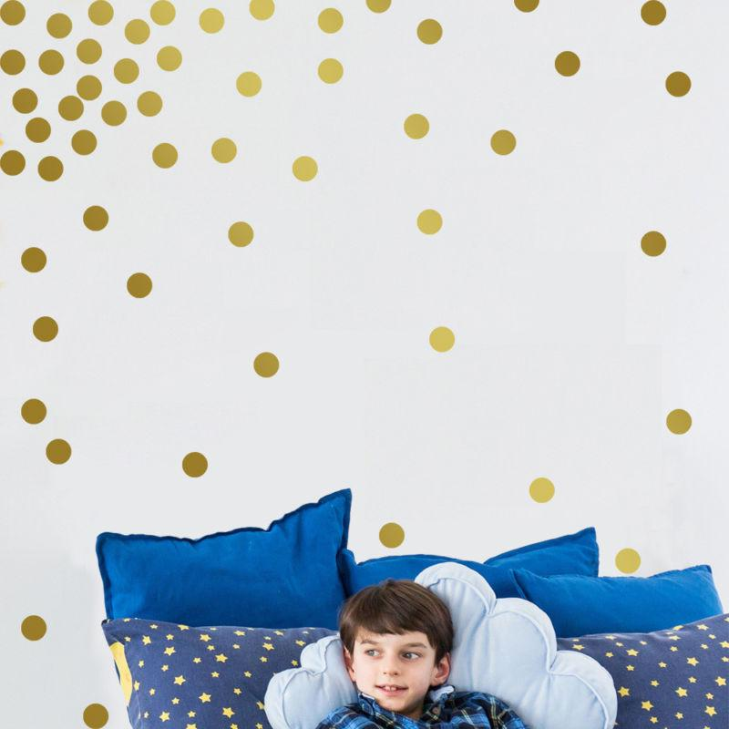 gold wall decal dots 200 decals easy