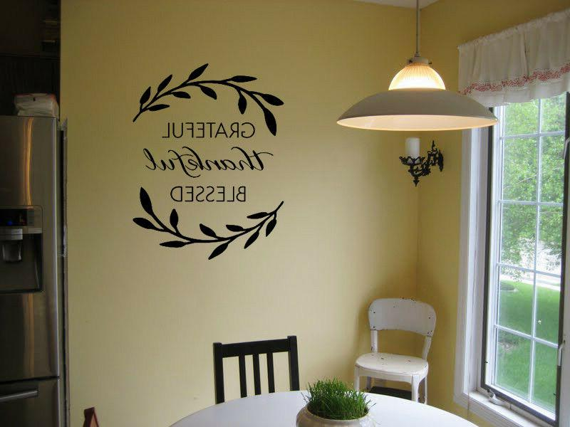 grateful thankful blessed wall art sticker vinyl