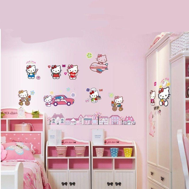 Hello Kitty Vinyle Autocollant Mural Wall Decals
