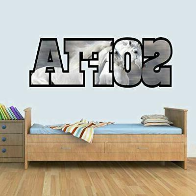 Horse Art Decal for Bedroom