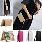 For iPhone 6S 7 Plus Genuine Leather Coke Wallet Purse Flip