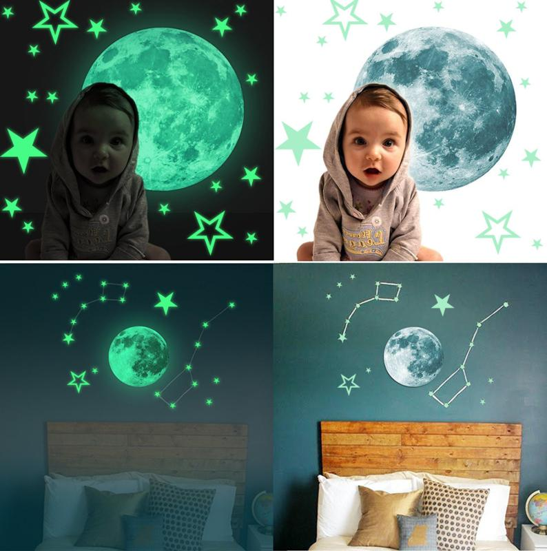 Kids Removable Star Glow in Dark Sticker Room Wall Decal
