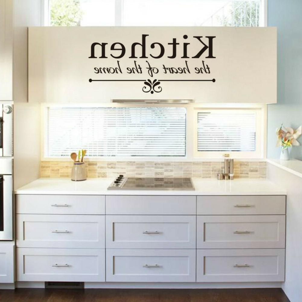 Kitchen Removable Vinyl Art Home Personalised Decor