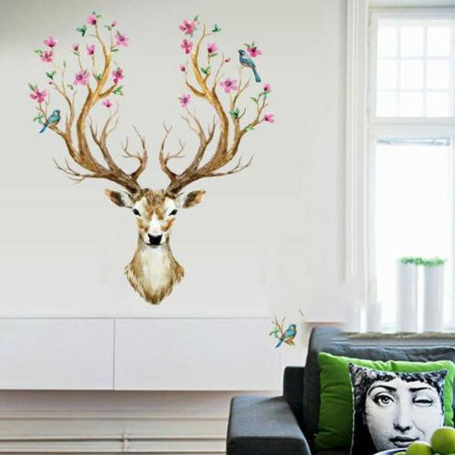 Leaves Flowers DIY Removable Wall Sticker Bedroom Art