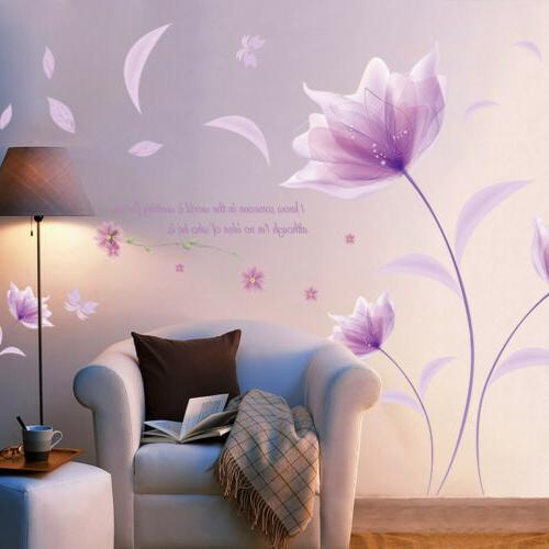 Leaves Flowers Decor DIY Removable Sticker Bedroom Decal