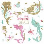 LITTLE MERMAID SLEEPS HERE Glitter WALL DECALS 21 Bedroom St